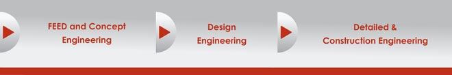 FEED and Concept Engineering, Design Engineering, Detailed & Construction Engineering