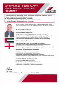 Alan Robson Personal HSES Contract