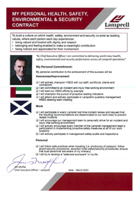 Jim Moffat Personal HSES Contract